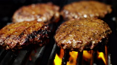 Organic Healthy Living Low Fat Flame Grill Beef Patty Classic BBQ Meal Option - stock footage