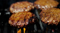 Fresh Organic Flame Grilled Beef Burgers Healthy Dining Choice Barbecue Flavor - stock footage