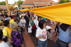 Buddhist sacred procession - stock photo