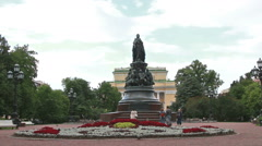Monument to Catherine the Great Stock Footage