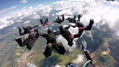 Skydiver point of view Arkistovideo