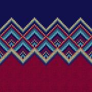 Seamless Pattern. Knit Woolen Trendy Ornament Texture. Fabric Co Stock Illustration