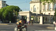 Buenos Aires Traffic - Hipodromo Argentino zoom out - stock footage