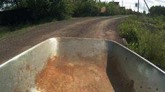 The empty wheelbarrow for garbage collection. 4K Stock Footage