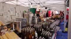 Wine shop, wine bottles. 4K Stock Footage