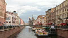 Griboedov Canal Stock Footage