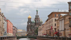 St. Petersburg, Russia, 2015 - Church of the Savior on Blood Stock Footage