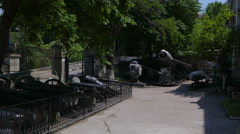 The exhibition in the Museum of the Black Sea Navy. Sevastopol, Crimea. Stock Footage