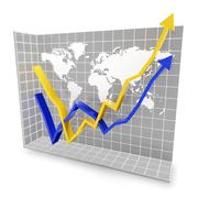 Global economic rebound - stock illustration