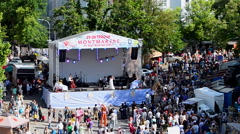 Montmartre, Kyiv's city Day celebration in Kiev, Ukraine. Stock Footage