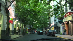 Bueno Aires Traffic POV - Following Bus Stock Footage