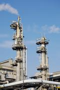 Chimneys of industrial plant Stock Photos