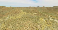 Aerial of Arizona Desert 4K - Ped Up Stock Footage