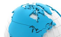 Globe of Canada with national borders - stock illustration