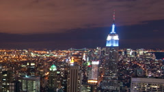 New York time-lapse from the Rockefeller building. Cropped. - stock footage