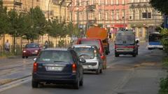 Basztowa Street in the afternoon, Krakow Stock Footage