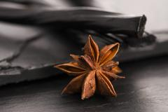 Licorice candy with star anise Stock Photos