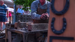 Blackman and his iron horseshoes Stock Footage