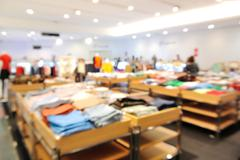 Blur or Defocus  background of people shopping - stock photo