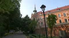 The Seminary of the Archdiocese building in Krakow Stock Footage
