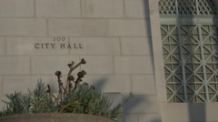 Wide Shot of Address of LA City Hall - stock footage