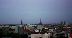 Hamburg Timelapse Day to Night 2 Stock Footage