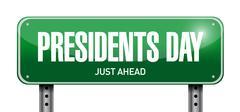 Stock Illustration of presidents day street sign illustration design
