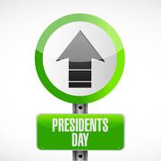 Stock Illustration of presidents day up arrow road sign