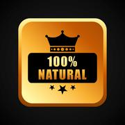 100 percent natural - stock illustration