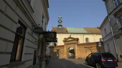 The Church of St. Joseph, located on Poselska Street, Krakow Stock Footage
