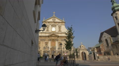 View of the Saints Peter and Paul Church in Krakow Stock Footage