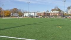 College Studnets Play Flag Football 3 - stock footage
