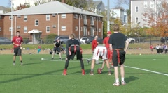 College Students Play Flag Football 2 Stock Footage
