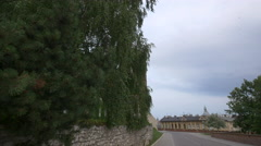 View from Wawel Hill in Krakow Stock Footage