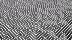 Stock Video Footage of Overhead shot of complicated maze