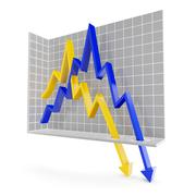 Chart with downward trend Stock Illustration