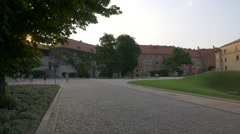 The Cathedral Museum and other brick buildings in Krakow Stock Footage