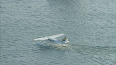 Aerial Seaplane Dubai Creek travel Persian Gulf UAE - stock footage