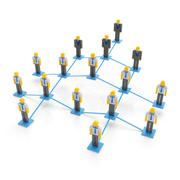 Company organization chart - stock illustration