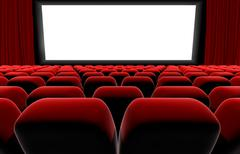 Cinema or theater screen seats. - stock illustration