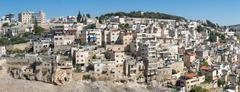 Jerusalem Arab neighborhood - stock photo