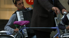 Stock Video Footage of Men playing the accordion in Munich