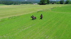 Riding on battleground - stock footage
