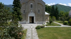 Orthodox monastery in Serbia Stock Footage