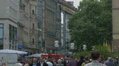 Walking in the city center of Munich in the afternoon Stock Footage