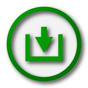 Download icon. Internet button on white background.. - stock illustration