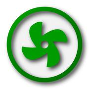 Stock Illustration of Fan icon. Internet button on white background..