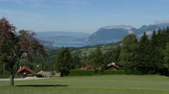 View of Lake Annecy Stock Footage