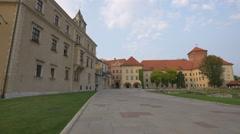 Old buildings at Cytadela Twierdzy Krakow Stock Footage