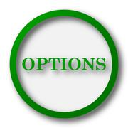 Options icon. Internet button on white background.. - stock illustration